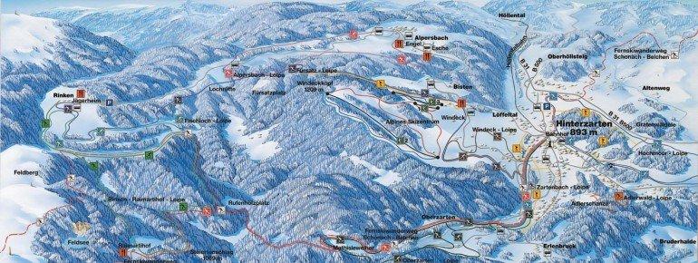 Pistenplan Skilift Breitnau