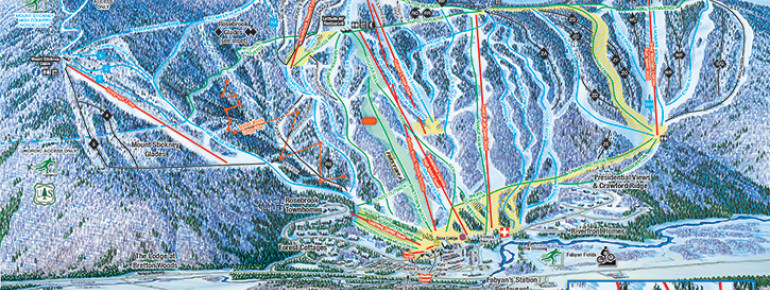 Pistenplan Bretton Woods Ski Area