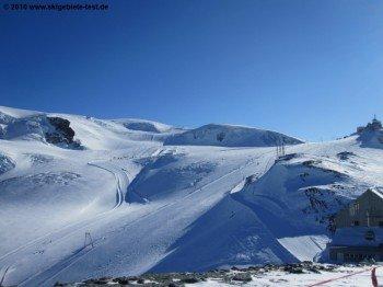Blick auf die Schweizer Seite vom Theodulpass (3301m)!