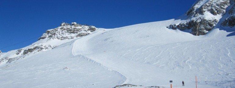 Abfahrt vom Plateau Rosa (Testa Grigia) mit Off-Piste Möglichkeit!