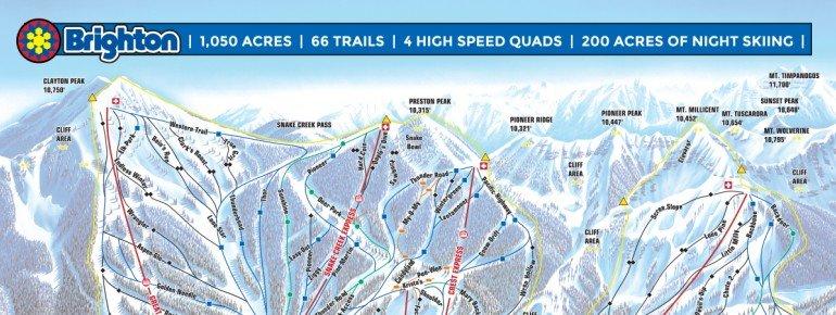 Pistenplan Brighton Ski Resort