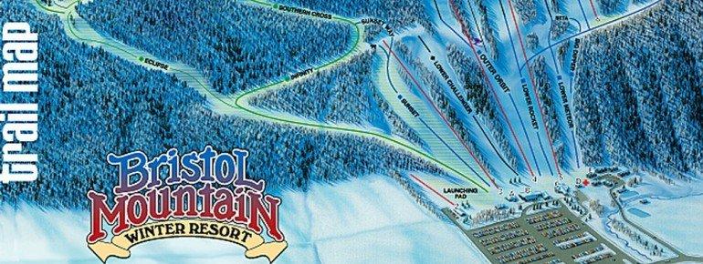 Pistenplan Bristol Mountain Ski Resort