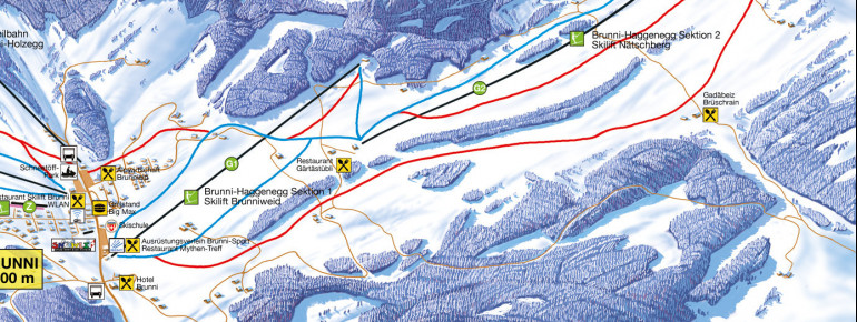 Pistenplan Brunni-Haggenegg