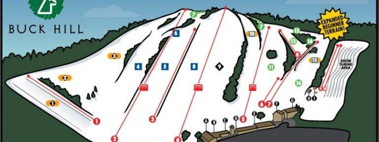 Pistenplan Buck Hill Ski Area