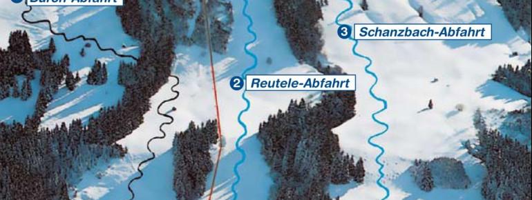 Pistenplan Skigebiet Buronlifte Wertach