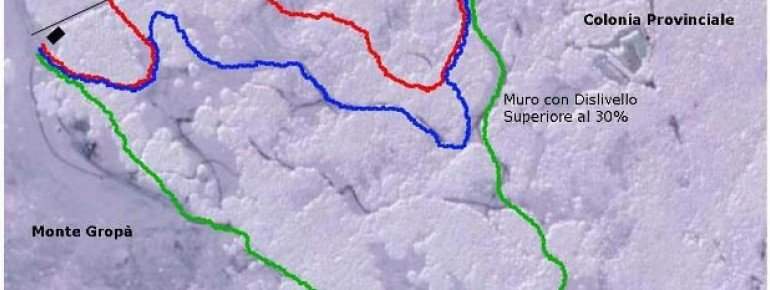 Pistenplan Caldirola Monte Gropa