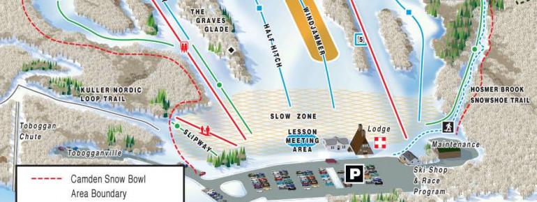 Pistenplan Camden Snow Bowl