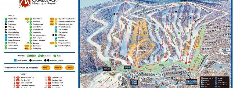 Pistenplan Camelback Ski Area