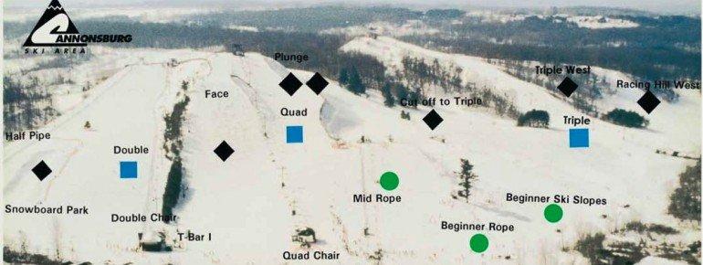 Pistenplan Cannonsburg Ski Area
