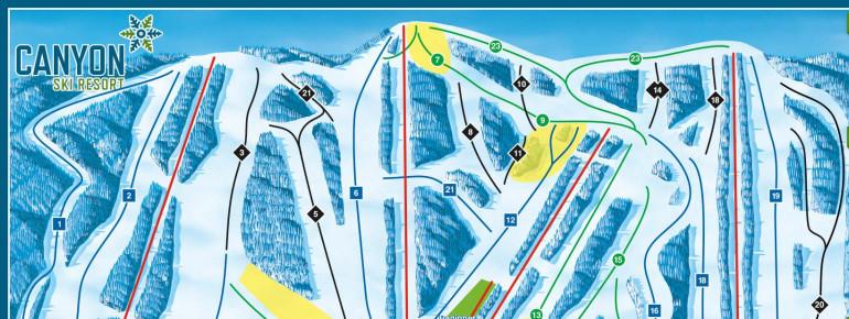 Pistenplan Canyon Ski Resort Red Deer
