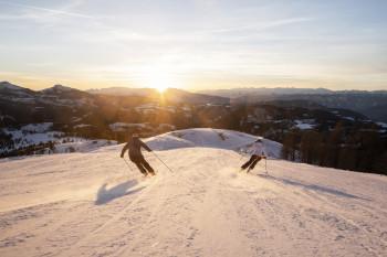 Pistenspaß in Carezza: Bei diesem Panorama macht Skifahren Spaß!