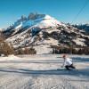 Skifahren zwischen Rosengarten und Latemar