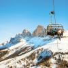 Traumhafte Aussichten auf die Dolomiten im Skigebiet von Carezza.