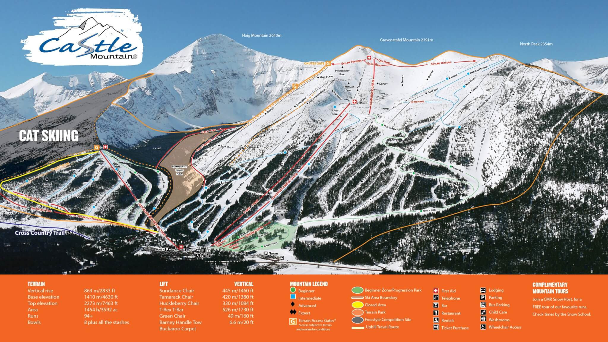 Pistenplan von Castle Mountain Resort