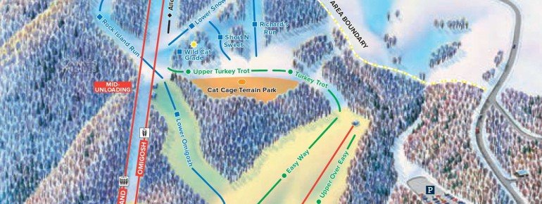 Pistenplan Cataloochee Ski Area