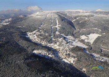 Das Skigebiet von oben