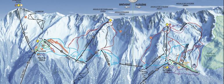 Pistenplan Brévent-Flégère (Vallée de Chamonix)
