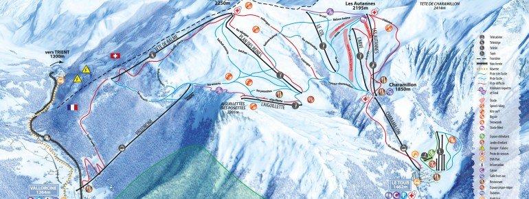 Pistenplan Chamonix Col de Balme