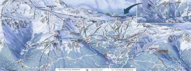 Pistenplan Champagny en Vanoise
