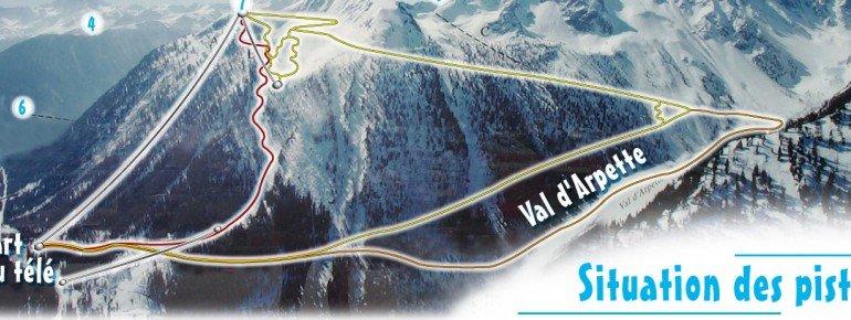 Pistenplan Champex Lac