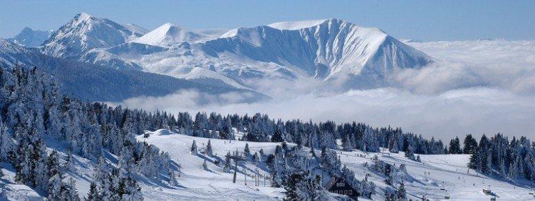 Winterlandschaft bei Chamrousse