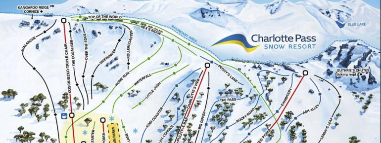 Pistenplan Charlotte Pass