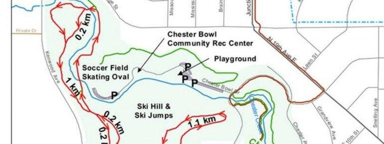Pistenplan Chester Bowl Park