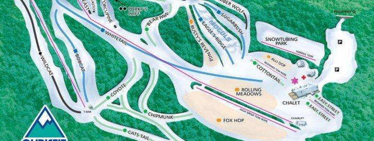 Pistenplan Christie Mountain Ski Area