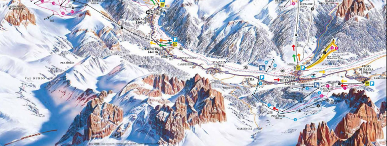 Pistenplan Val di Fassa Ciampedie