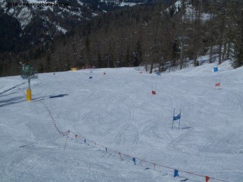 Trainingsstrecke unterhalb der Col della Grava- Sesselbahn!