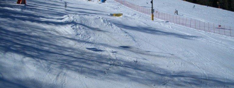 Rails und Kicker im Snowpark!