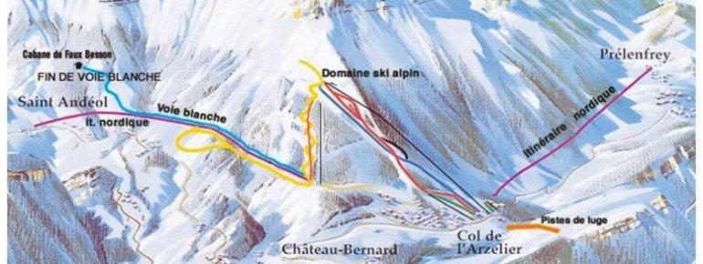 Pistenplan Col de Arzelier