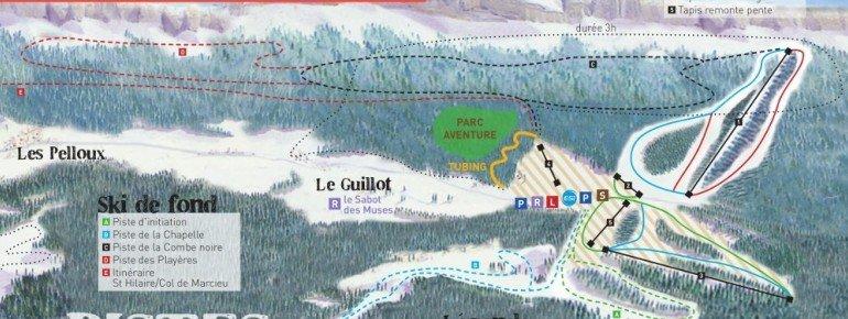 Pistenplan Col de Marcieu