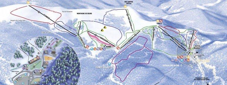 Pistenplan Col de Rousset