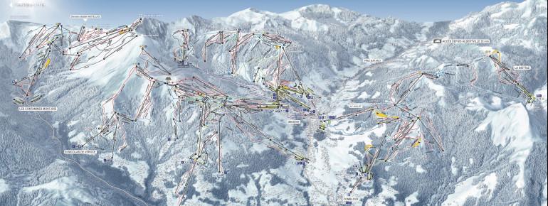 Pistenplan Combloux Megeve St. Gervais Mont Blanc