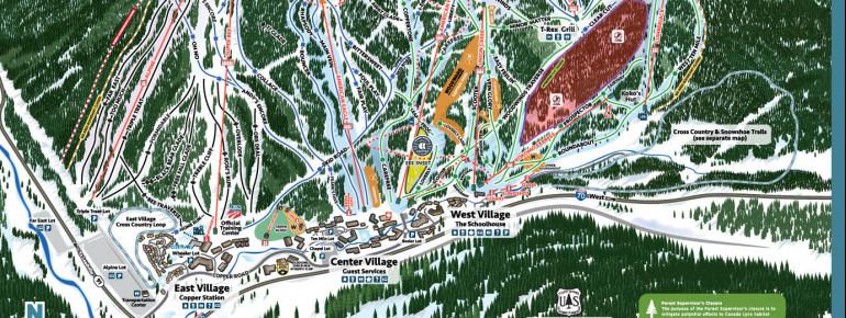 Pistenplan Copper Mountain