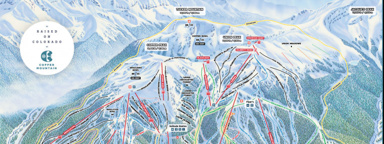 Pistenplan Copper Mountain