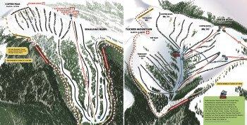 Pistenplan Copper Mountain Back Bowls