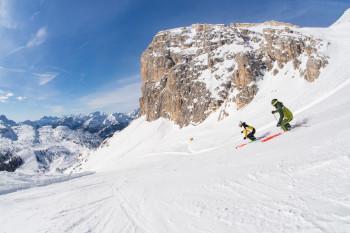 Ein Traumkulisse erwartet Skifahrer in Cortina.