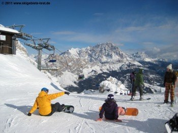 Piste 36 an der Bergstation des Sessellifts Duca D'Aosta - Pomedes!