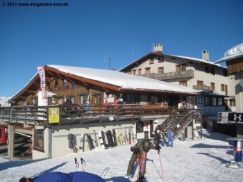 Rifugio Faloria an der Bergstation der Gondel Cortina Faloria!