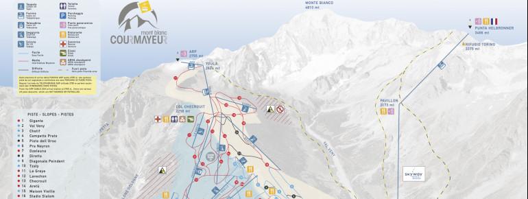 Pistenplan Courmayeur Mont Blanc