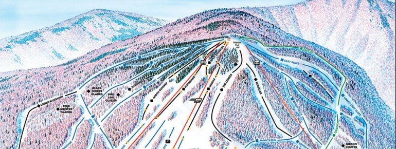 Pistenplan Cranmore Mountain Resort
