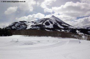 Blick auf das Skigebiet am Mt. Crested Butte!