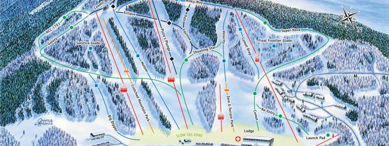 Pistenplan Crotched Mountain Ski And Ride Area