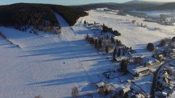 Der Skihang Am Schießberg in Crottendorf