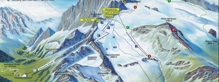 Pistenplan Dachstein Gletscher