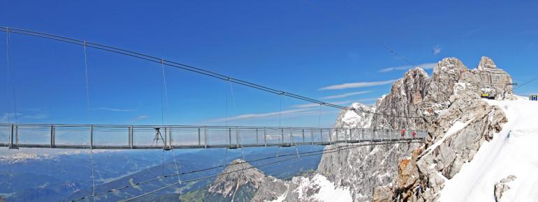 Die Hängebrücke am Dachstein