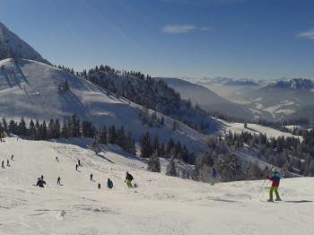 Richtung Zwieselalm erwarten Skifahrer schwere Abfahrten