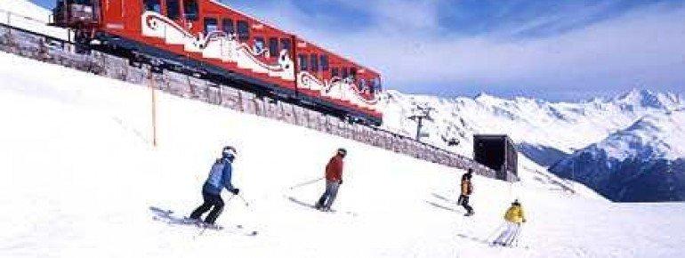 Unterwegs im Skigebiet Davos Klosters Mountains